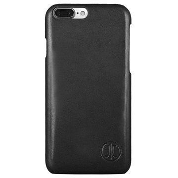 iPhone 7 Plus JT Berlin Nahkakotelo Style Pure Musta