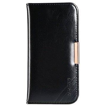 iPhone 7 Plus Kalaideng Royale II Nahkainen Lompakkokotelo Musta