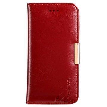 iPhone 7 Plus Kalaideng Royale II Nahkainen Lompakkokotelo Punainen