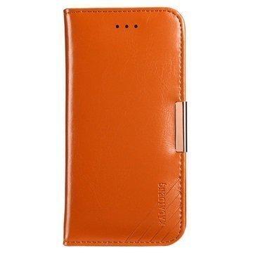 iPhone 7 Plus Kalaideng Royale II Nahkainen Lompakkokotelo Ruskea