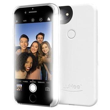 iPhone 7 Plus LuMee Two LED-Valaistu Kotelo Valkoinen