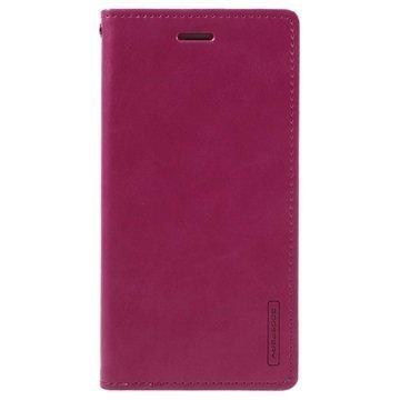 iPhone 7 Plus Mercury Goospery Blue Moon Diary Lompakkokotelo Kuuma Pinkki