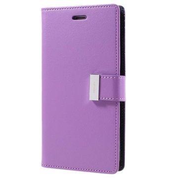 iPhone 7 Plus Mercury Goospery Rich Diary Wallet Case Purple