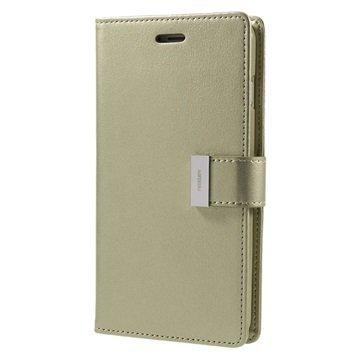 "iPhone 7 Plus Mercury Goospery Rich Diary lompakkokotelo â"" Kulta"