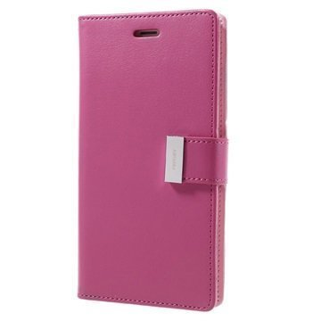 "iPhone 7 Plus Mercury Goospery Rich Diary lompakkokotelo â"" Kuuma Pinkki"