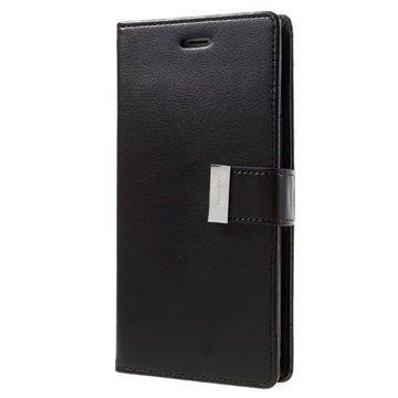 "iPhone 7 Plus Mercury Goospery Rich Diary lompakkokotelo â"" Musta"
