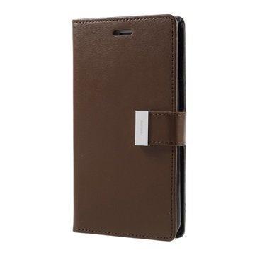 "iPhone 7 Plus Mercury Goospery Rich Diary lompakkokotelo â"" Ruskea"