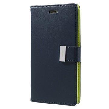 """iPhone 7 Plus Mercury Goospery Rich Diary lompakkokotelo â"""" Tummansininen"""