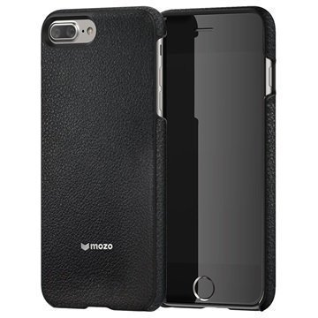 iPhone 7 Plus Mozo Nahkainen Suojakuori Musta