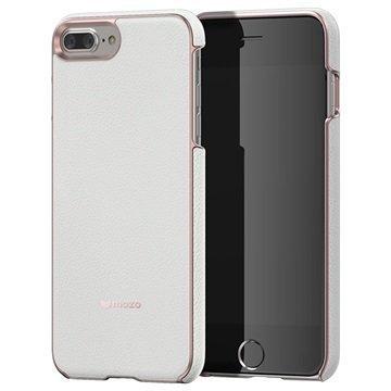iPhone 7 Plus Mozo Nahkainen Suojakuori Valkoinen
