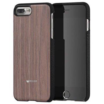 iPhone 7 Plus Mozo Puinen Suojakuori Musta Pähkinäpuu