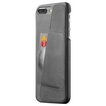 iPhone 7 Plus Mujjo Nahkainen Lompakkokuori Harmaa