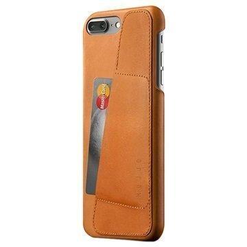 iPhone 7 Plus Mujjo Nahkainen Lompakkokuori Keltaruskea