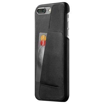 iPhone 7 Plus Mujjo Nahkainen Lompakkokuori Musta