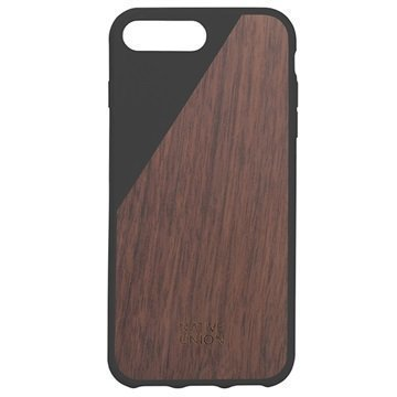 iPhone 7 Plus Native Union Clic Wooden Suojakuori Musta / Pähkinäpuu