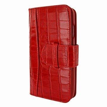 iPhone 7 Plus Piel Frama WalletMagnum nahkakotelo Krokotiili Punainen