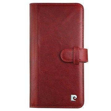 iPhone 7 Plus Pierre Cardin Nahkainen Lompakkokotelo Viininpunainen