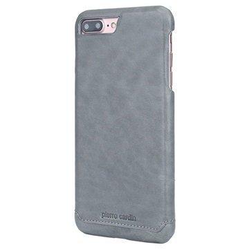 iPhone 7 Plus Pierre Cardin Nahkapinnoitettu Kotelo Harmaa