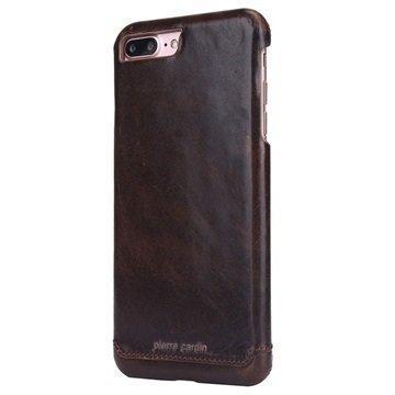 iPhone 7 Plus Pierre Cardin Nahkapinnoitettu Kotelo Kahvi