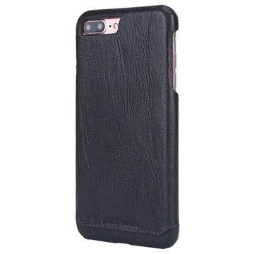 iPhone 7 Plus Pierre Cardin Nahkapinnoitettu Kotelo Musta