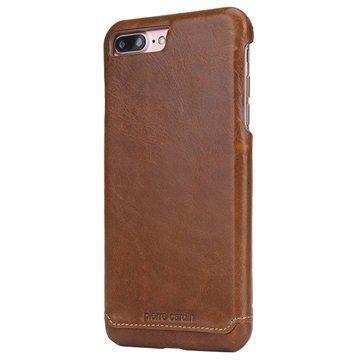 iPhone 7 Plus Pierre Cardin Nahkapinnoitettu Kotelo Ruskea