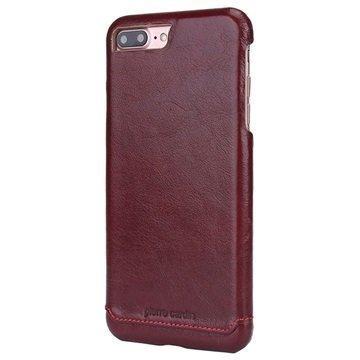 iPhone 7 Plus Pierre Cardin Nahkapinnoitettu Kotelo Viininpunainen