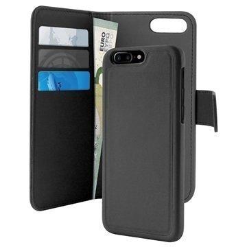 iPhone 7 Plus Puro Detachable Lompakkokotelo Musta