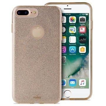 iPhone 7 Plus Puro Glitter Kotelo Kulta