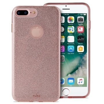 iPhone 7 Plus Puro Glitter Kotelo Ruusukulta