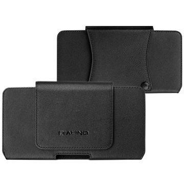 iPhone 7 Plus Qialino Horizontal Holster Leather Case Black