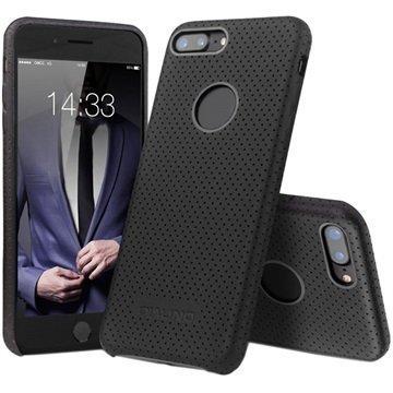 iPhone 7 Plus Qialino Mesh Leather Case Black