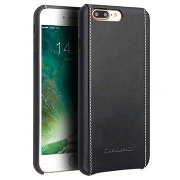 iPhone 7 Plus Qialino Nahkainen Suojakotelo Musta