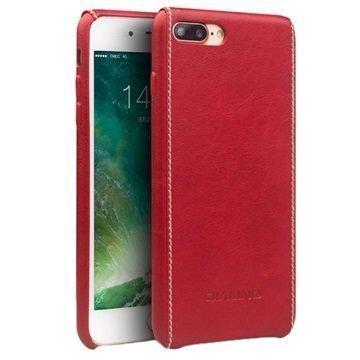 iPhone 7 Plus Qialino Nahkainen Suojakotelo Punainen