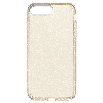 iPhone 7 Plus Speck Presidio Clear Glitter Suojakuori Kulta