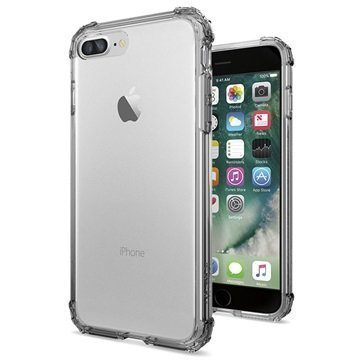 iPhone 7 Plus Spigen Crystal Shell Suojakuori Musta Kristalli