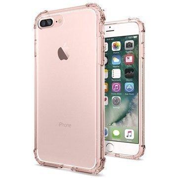 iPhone 7 Plus Spigen Crystal Shell Suojakuori Vaaleanpunainen Kristalli