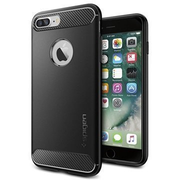 iPhone 7 Plus Spigen Rugged Armor Kotelo Musta