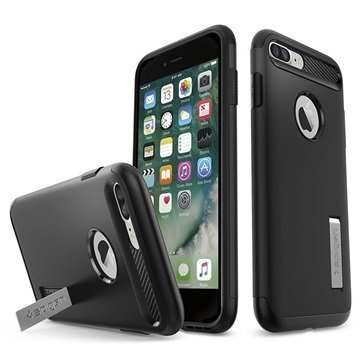 iPhone 7 Plus Spigen Slim Armor Suojakuori Musta