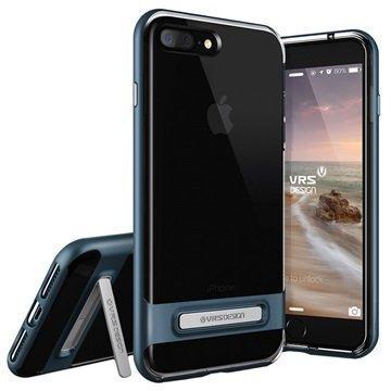 iPhone 7 Plus VRS Design Crystal Bumper Suojakuori Teräksen Sininen