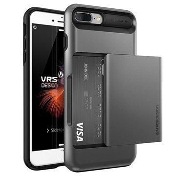 iPhone 7 Plus VRS Design Damda Glide Suojakotelo Teräksinen Hopea