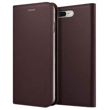 iPhone 7 Plus VRS Design Diary Nahkalompakko Kotelo Viininpunainen