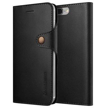 iPhone 7 Plus VRS Design Native Diary Lompakkokotelo Musta