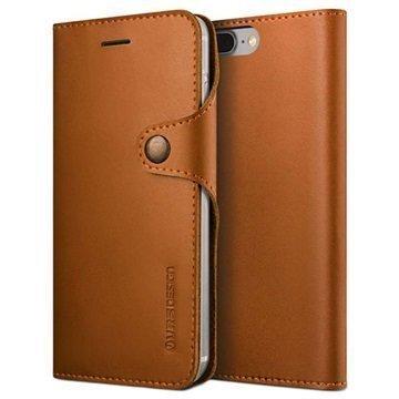 iPhone 7 Plus VRS Design Native Diary Lompakkokotelo Ruskea