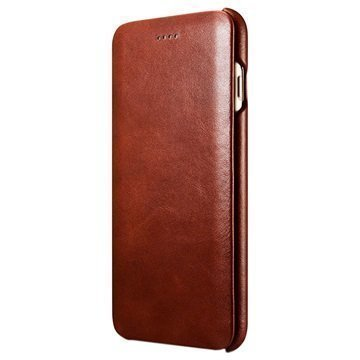 iPhone 7 Plus iCarer Curved Edge Vintage Flip Leather Case Brown