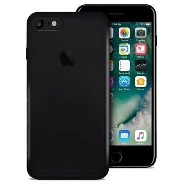 iPhone 7 Puro 03 Nude Kotelo Läpinäkyvä Musta