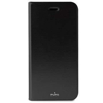 iPhone 7 Puro Booklet lompakkokotelo Musta