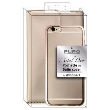 iPhone 7 Puro Capsule Collection Lompakkokotelo Kulta