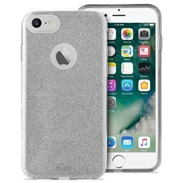 iPhone 7 Puro Glitter Kotelo Hopea