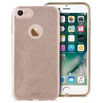 iPhone 7 Puro Glitter Kotelo Kulta