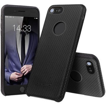 iPhone 7 Qialino Mesh Leather Case Black